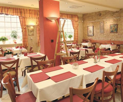 Interiér reštaurácie Emilia v Ivanke pri Dunaji